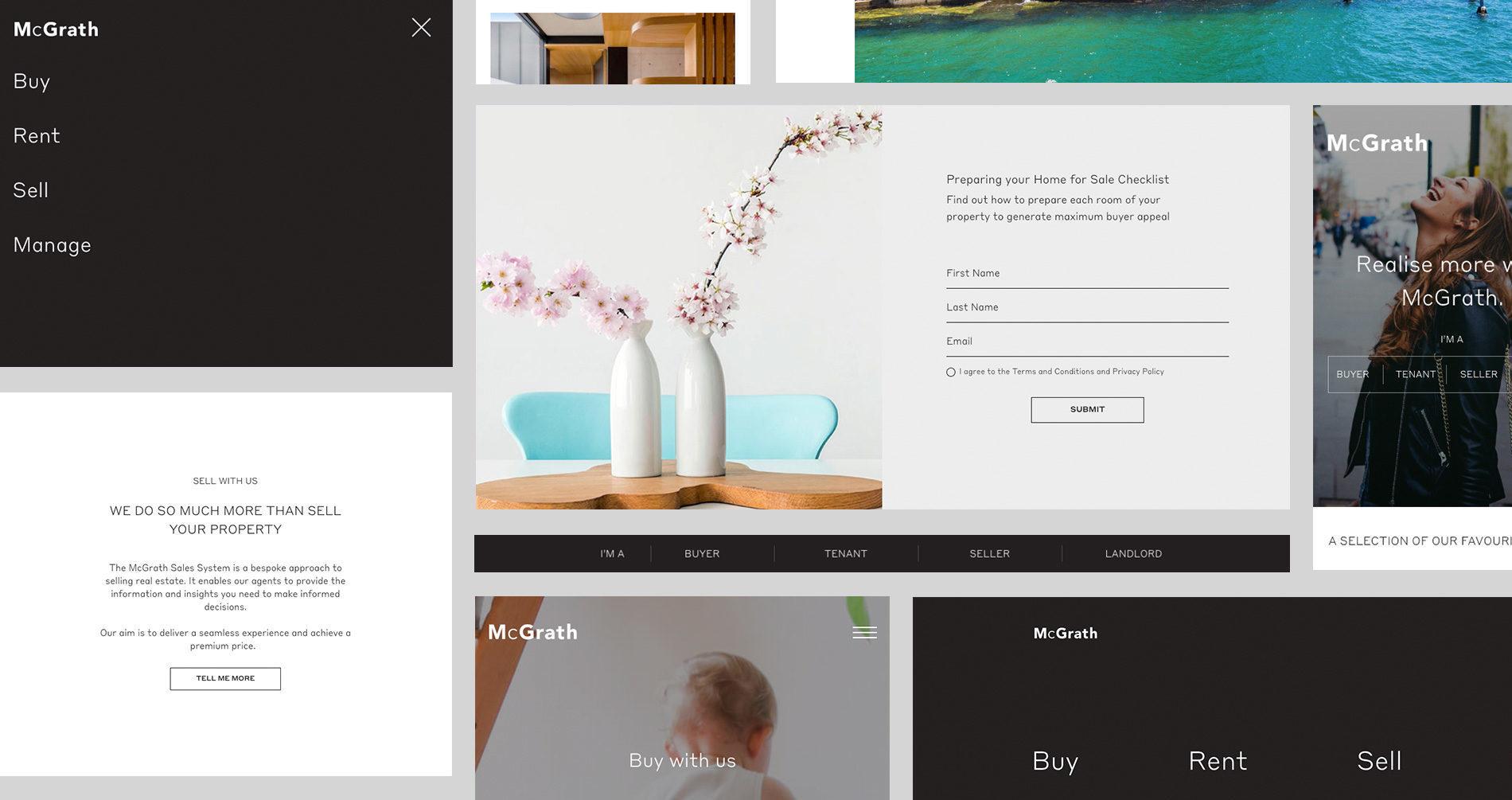McGrath Real Estate Agents Responsive Design Mobile Desktop UX UI